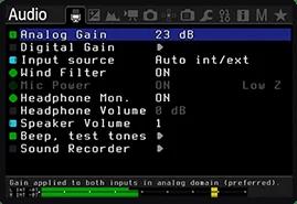 Los ajustes de audio