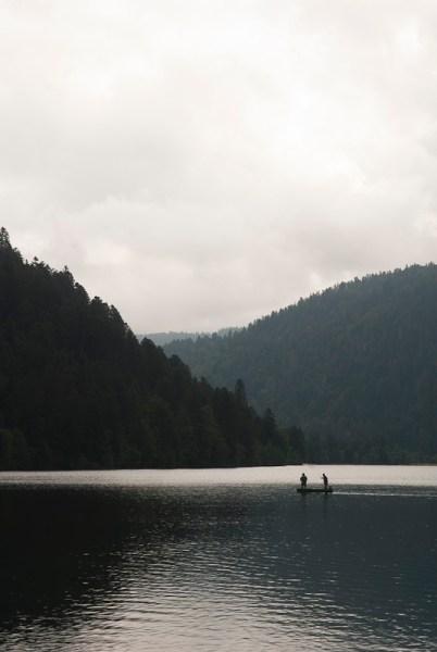 Vissers op het meer van Longemer
