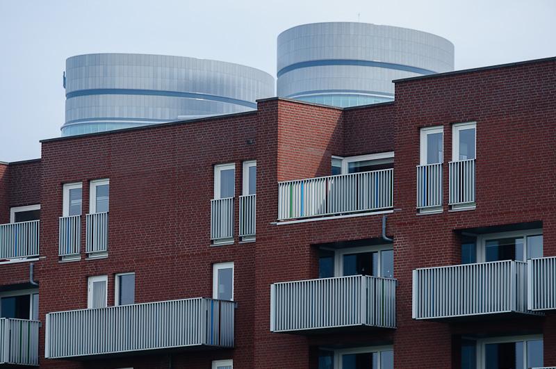 Gebouwen Veilingkade met Bestuurscentrum Rabobank
