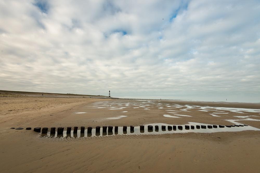 Strandplas bij vuurtoren Breskens
