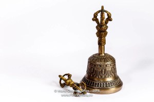 Hand-crafted bronze Tibetan buddhist prayer bell