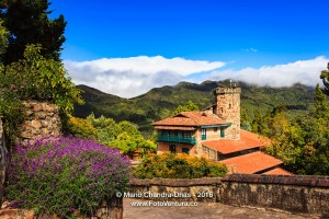 Bogota Colombia - The Rack Railway Station atop the Andean Peak of Monserrate.