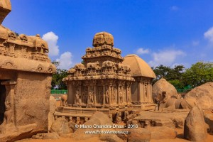 Mahabalipuram, India: 7th Century Arjuna, Draupadi Rathas, sculpted in Granite.