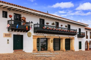 Villa de Leyva, Colombia - Bank and Restaurant, Main Plaza