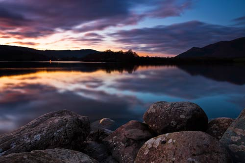 richard bowden derwent water lake district sunset picture