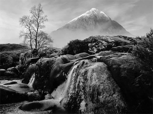 Glen Coe Winter Monochrome
