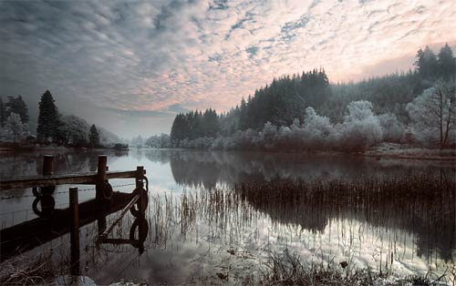 frosty loch photograph