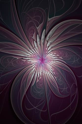 fractal print by ann garrett on canvas