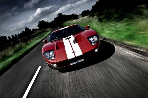 Ford GT sports car poster art