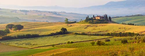tuscany panorama wall art