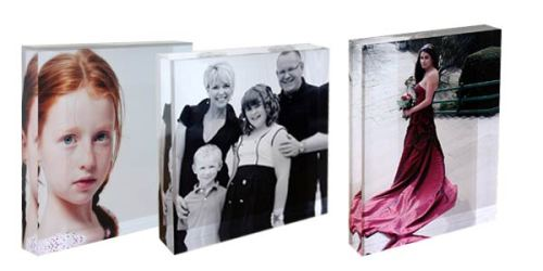 photos on acrylic block