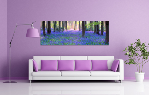 bluebell lavender print