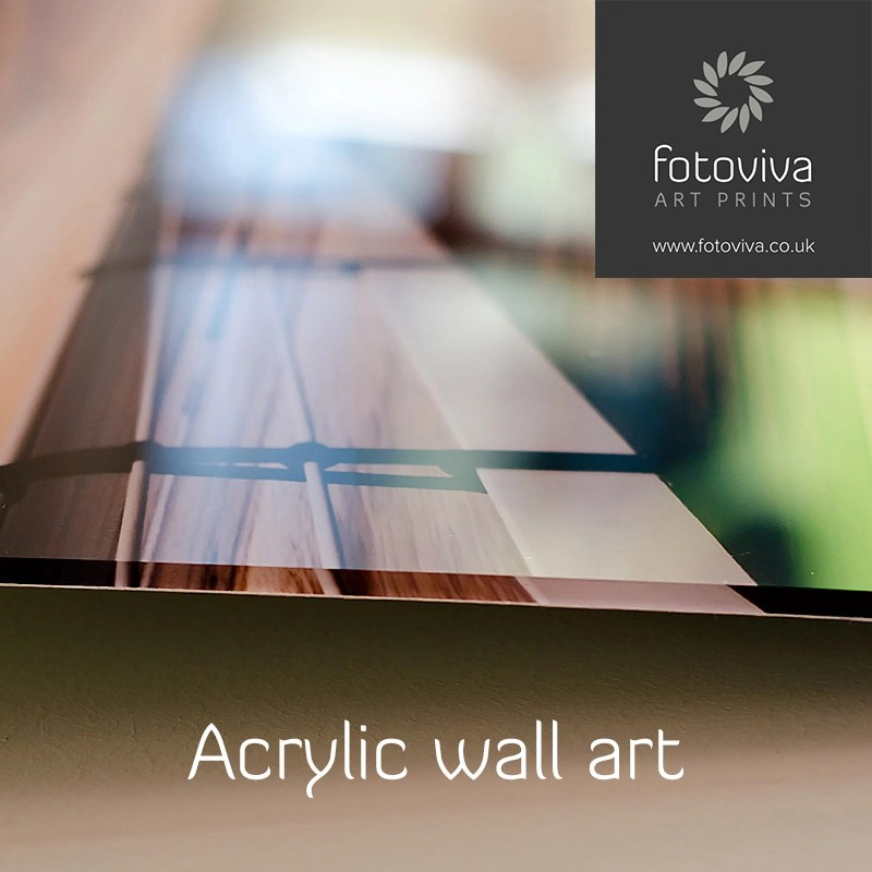 photo detail of acrylic wall print edges