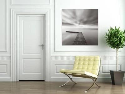 contemporary square canvas art print on wall