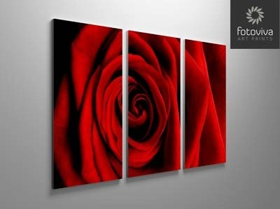 red rose flower canvas split panel artwork