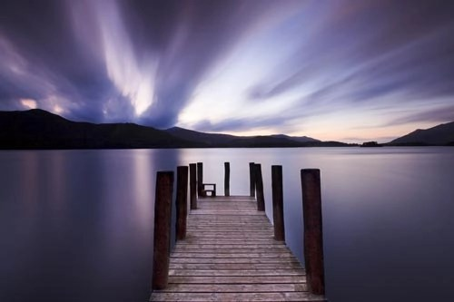 Derwentwater jetty photographic art print