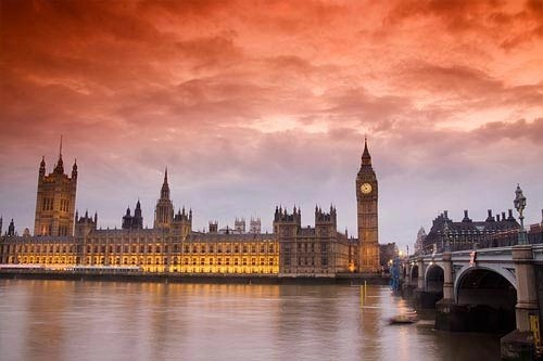 London Orange Sunset