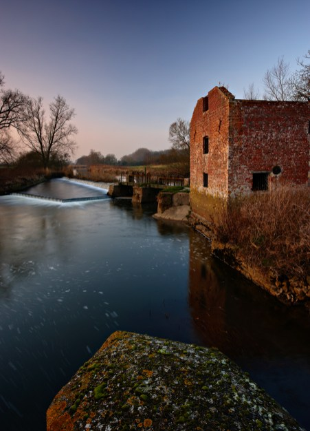 The last light of the day hitting Cutt Mill in December. Canon 1Ds mark II, 17-40mm f/4L at 22mm, ISO 100, 2 seconds at f/16, polariser. © Mark Bauer