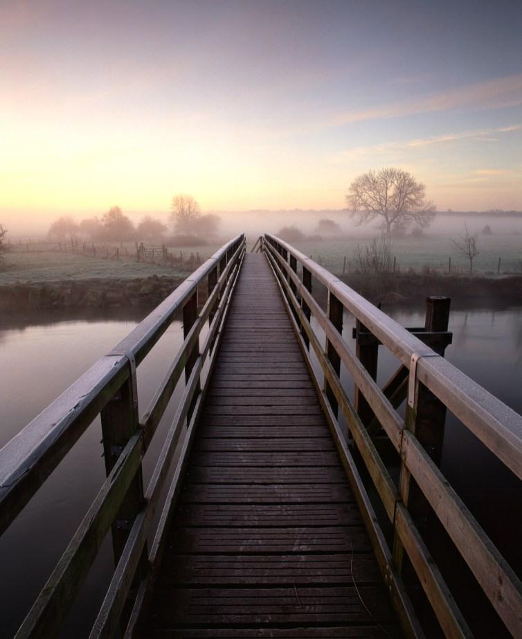 Eyebridge on a winter morning. Pentax 67II, 45mm f/4, Fuji Velvia 50, LEE 0.9 soft grad. © Mark Bauer