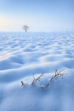 A blanket of snow covering the East Anglian landscape. Canon 5D MkII, Canon 17-40mm f/4 at 26mm, ISO 200, 1/160s at f/8. Handheld. © Justin Minns