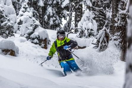 Skiing deep powder. Nikon D810, Nikkor 80-400mm at 200mm, ISO 125, 1/640s at f/5.3. February. © James Rushforth.