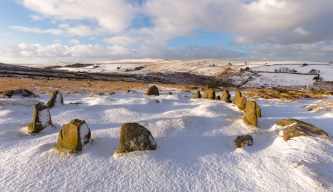 Snow Maidens, Nine Maidens, Dartmoor. Canon 6D, Canon EF 16-35 f/4 at 16mm, ISO100, 1/50s at f/11, Tripod. February. © Richard Fox.