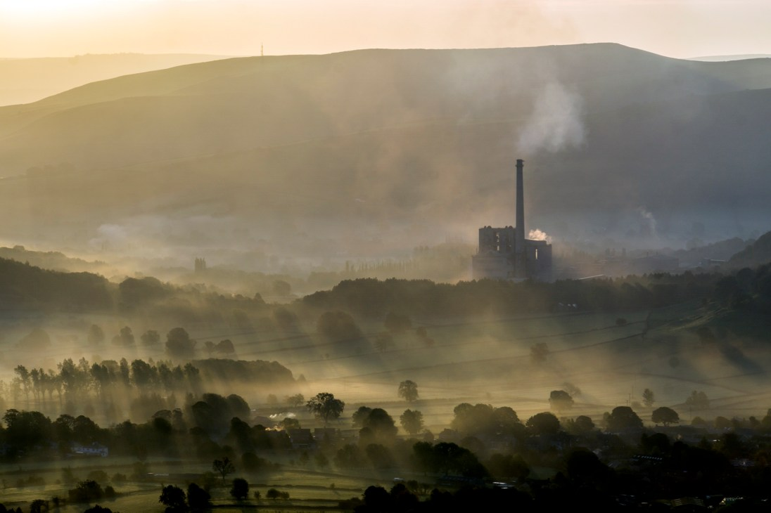 Hope Cement works from Mam Tor summit. © Mick Ryan