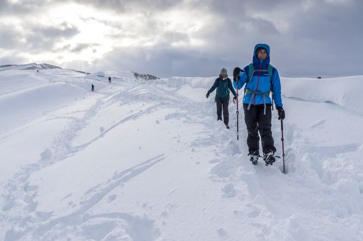 Arctic conditions on the Great ridge. © Mick Ryan
