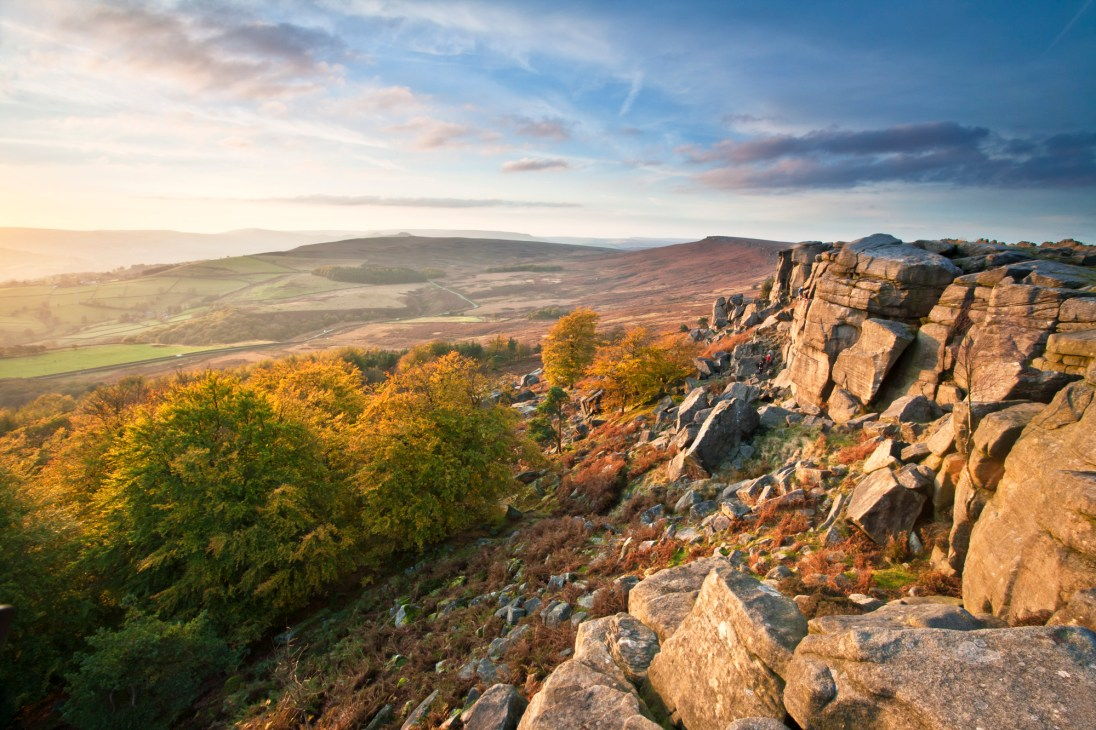 The Stanage Plantation in autumn. © Chris Gilbert.