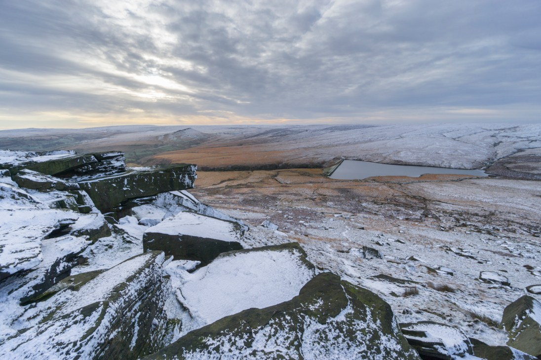 Looking down on Marsden Moor from Buckstones, the mostly northerly part of the Peak District. © Mick Ryan.