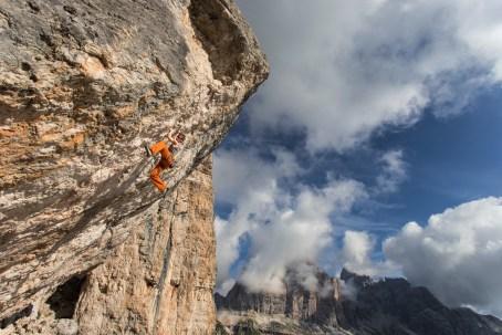 Climbing 'Ha Chiamato Kubista' on Sasso Cubico. Nikon D610, 14-24 at 17mm, ISO 100, 1/200s at f/11, tripod, August. ©James Rushforth