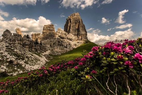 The classic shot of Cinque Torri.Nikon D610, 16-35 at 16mm, ISO 100, 1/200s at f/10, July. ©James Rushforth