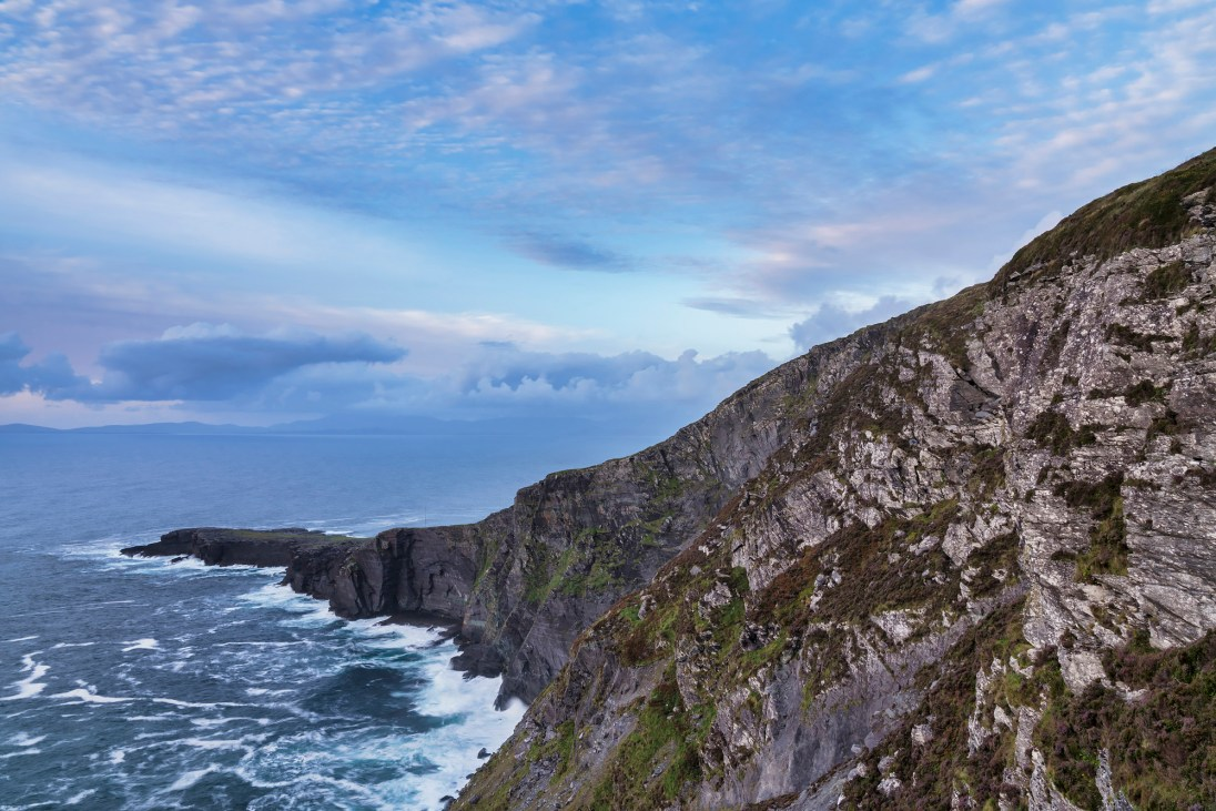 Fogher Cliffs, Valentia Island, County Kerry, Ireland. Sony A7R II, Sony 24-70 f/2.8 GM at 26mm, ISO 50, 2s at f/16. Tripod. Aug. © Carsten Krieger