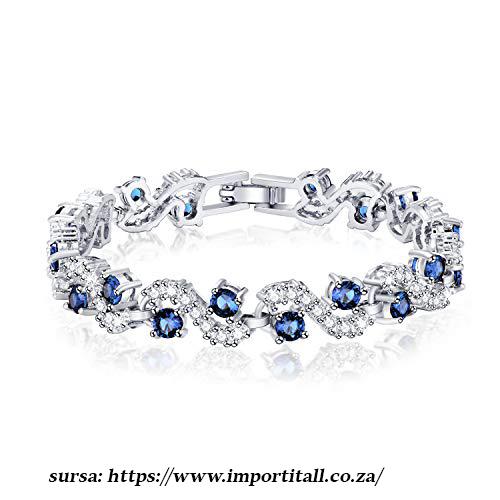 culoarea anului pantone 2020 bratara safir albastru clasic cristale