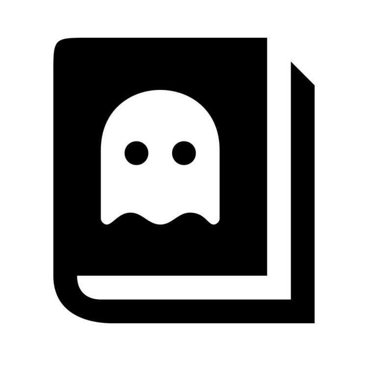 spooky book icon picture
