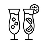 Icon of two cocktails; accompanying blog post, Waiting for something exciting to happen