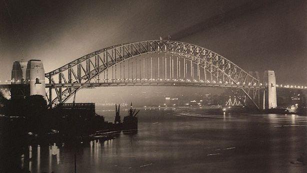 Sydney Harbour Bridge on Opening Night / Photo by Harold Cazneau, AGNSW, Gift of Rainbow Johnson, Robert Johnson and Sally Garrett