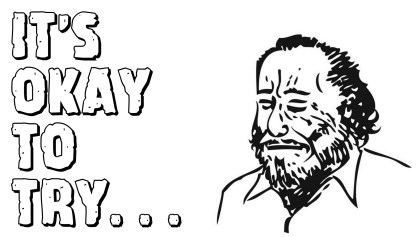 Line drawing of Charles Bukowski / monurbock23 CC BY-SA 3.0