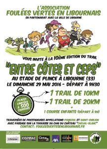"""Trail """"Entre Côtes et Ceps"""" du 29 mai 2016"""