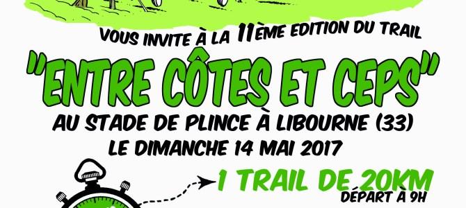 Résultats Trail Entre Côtes et Ceps du 14 Mai 2017