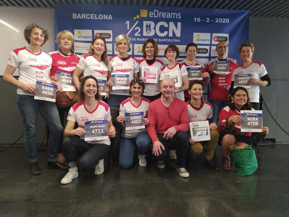 Des fouléistes au semi de Barcelone 2020