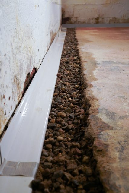 Basement Gutter Close up