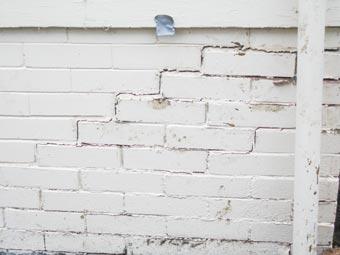 Exterior Brick Step Crack
