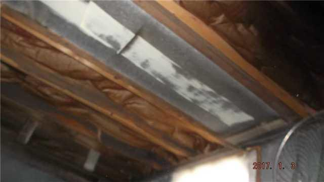 This duct above the wall needed to be stabilized along with the clay tile wall and block wall.