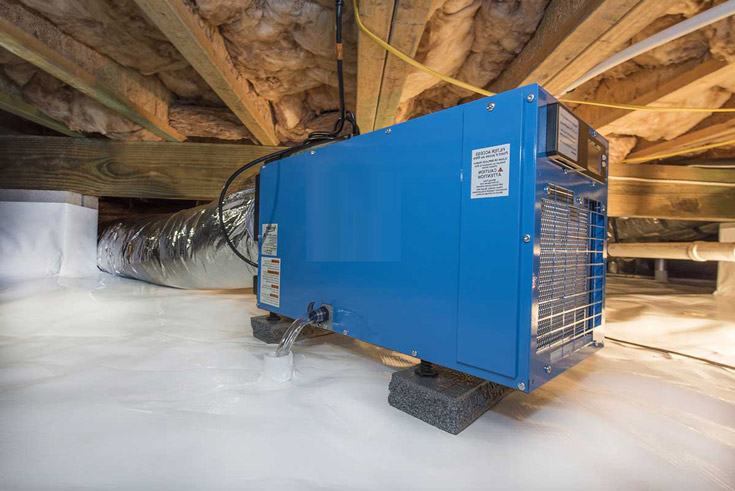 Dehumidifiers for crawl spaces