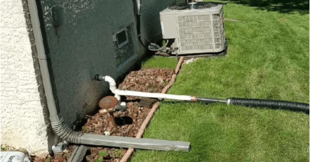 downspout above ground problem
