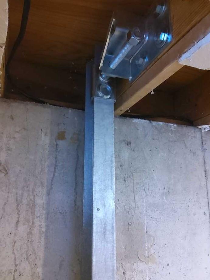 wall brace installed