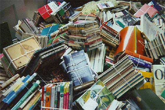 Image result for dump of books