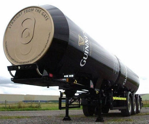 Guinness truck trailer