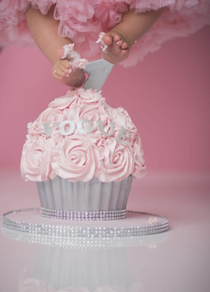 Baby smash cake photoshoot photography